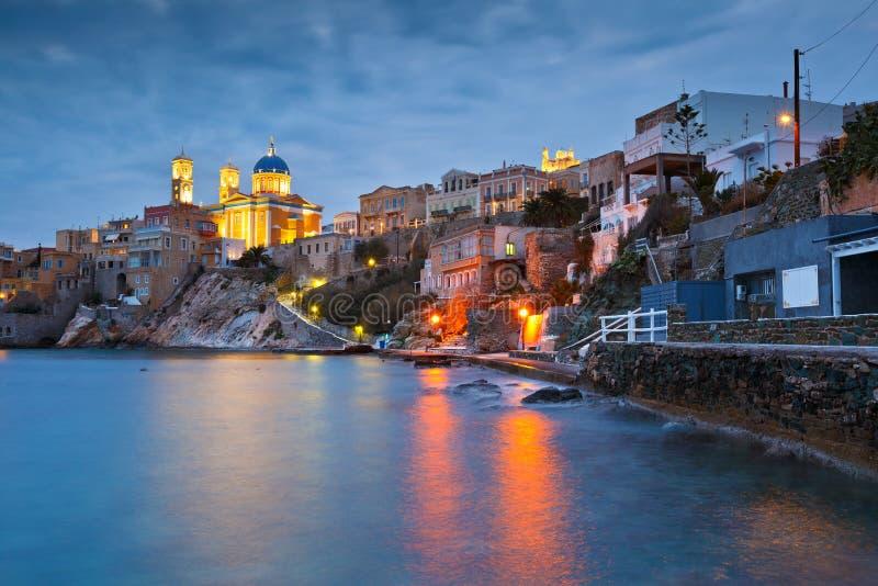 Syros Insel lizenzfreie stockbilder