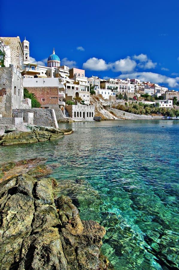 Syros island stock photo