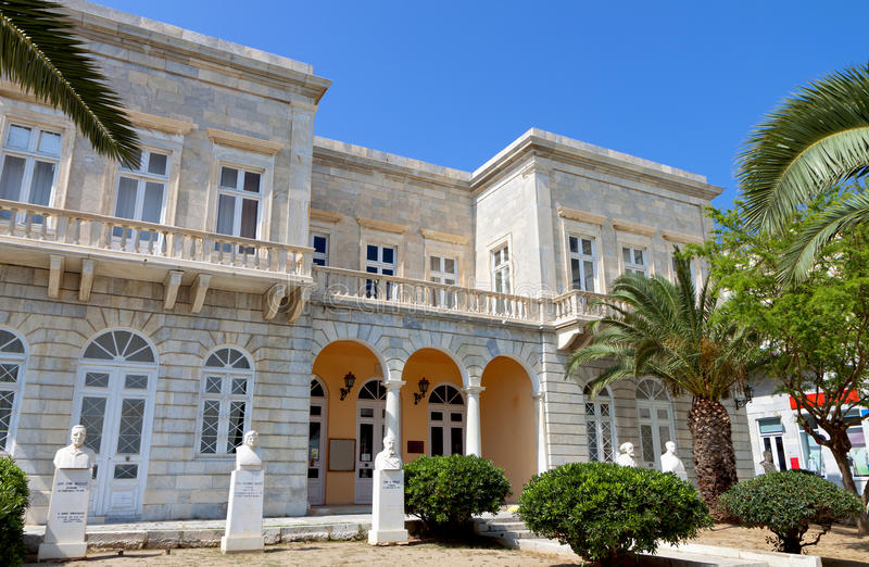 Download Syros island in Greece stock image. Image of mansion - 31414371