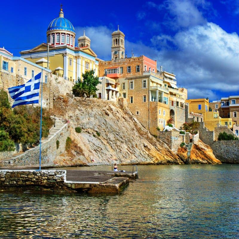 Syros - isola greca fotografie stock libere da diritti