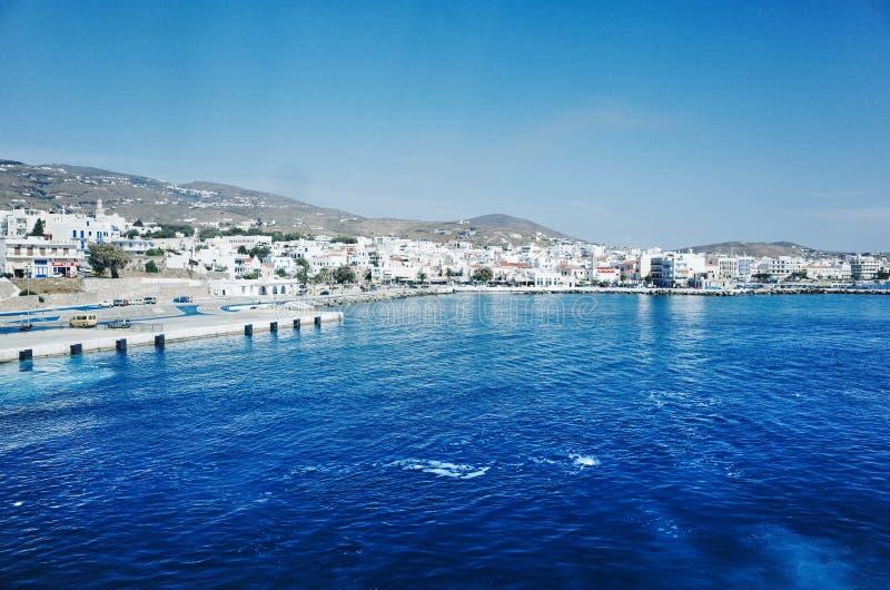Syros port på den Ermoupolis staden, Syros eller Siros eller Syra, Grekland arkivfoton