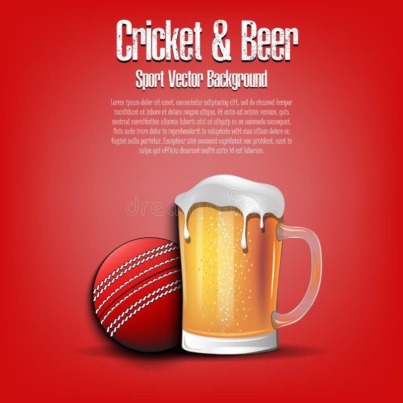 Syrsabollen med rånar av öl vektor illustrationer