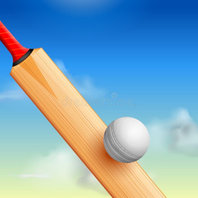 Syrsaslagträ på sportbakgrund vektor illustrationer