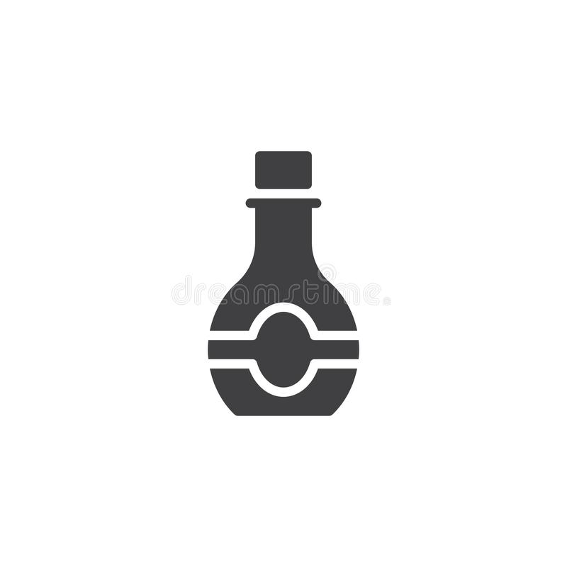 Syrup bottle vector icon. Filled flat sign for mobile concept and web design. Sweet syrup plastic bottle glyph icon. Symbol, logo illustration. Pixel perfect royalty free illustration
