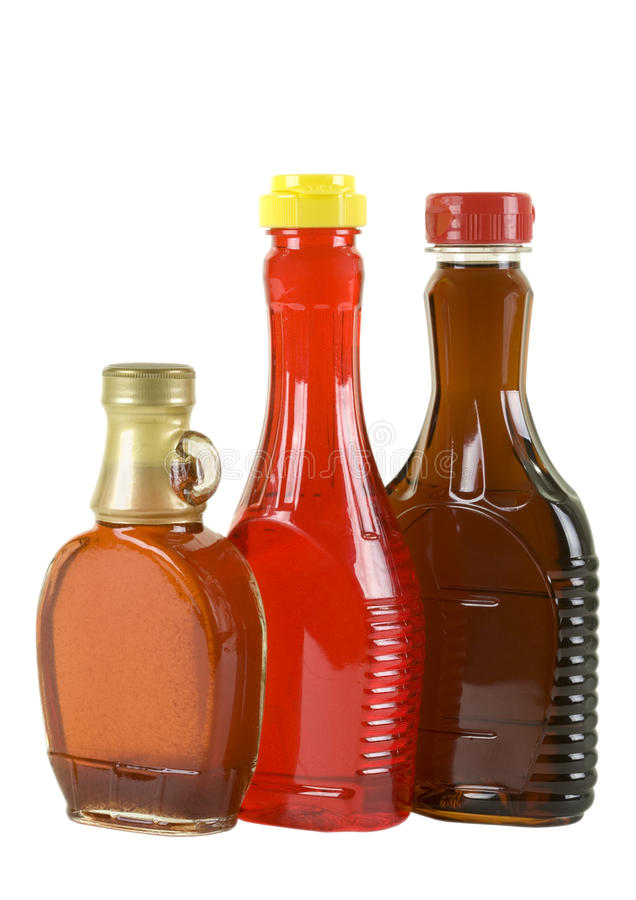Syrup in Three Bottles stock image
