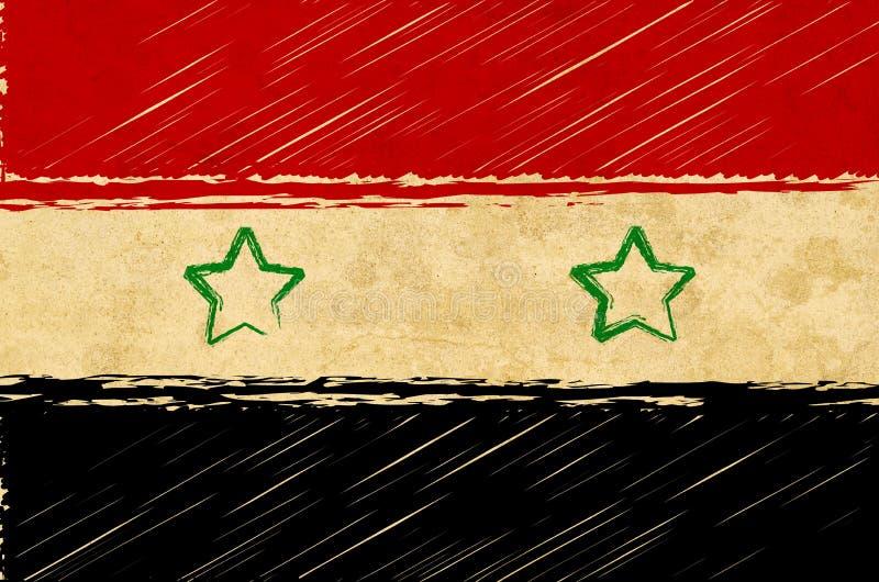 Syryjczyk flaga ilustracji