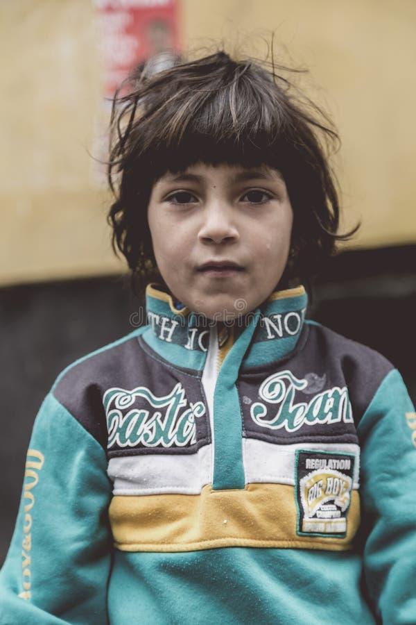 Syryjski uchodźcy dzieciak w Istanbuł fotografia stock