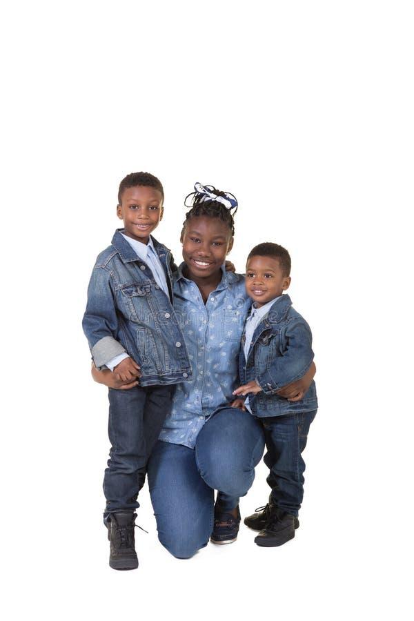 3 syskon royaltyfri fotografi
