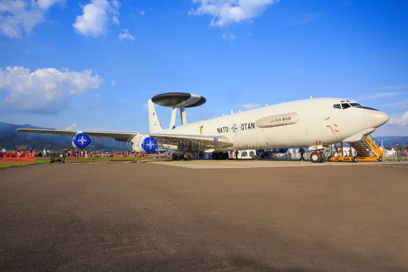 Système aéroporté de détection et de contrôle de l'OTAN photos stock