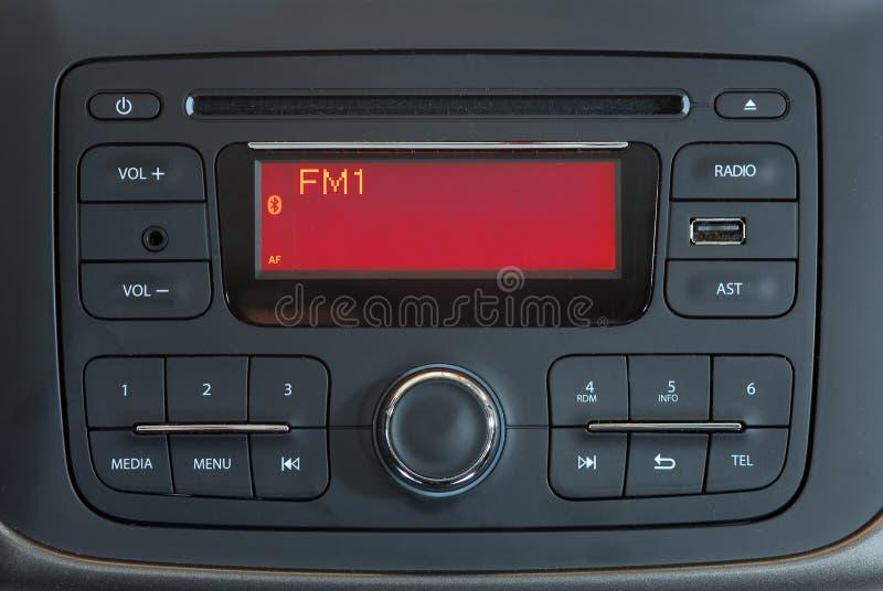 Système audio moderne de voiture photographie stock libre de droits