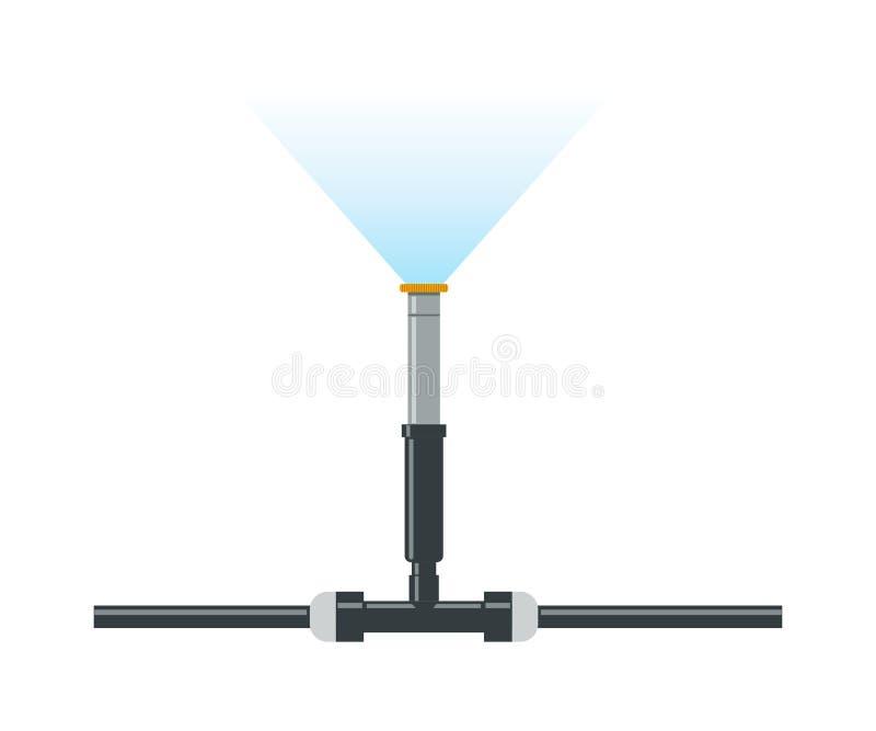 Système automatique d'irrigation par aspiration illustration stock