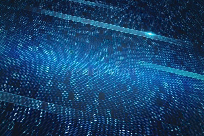 Système binaire de Digital illustration de vecteur