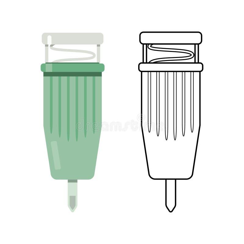 Système capillaire de collection de sang illustration stock