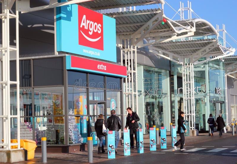 Système d'Argos, Kempston, bâtis, R-U. photo stock