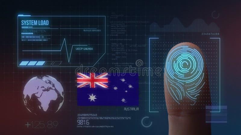 Système d'identification de balayage biométrique d'empreinte digitale Nationalité de l'Australie images stock