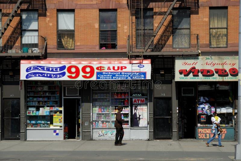système de 99 cents, New York images stock