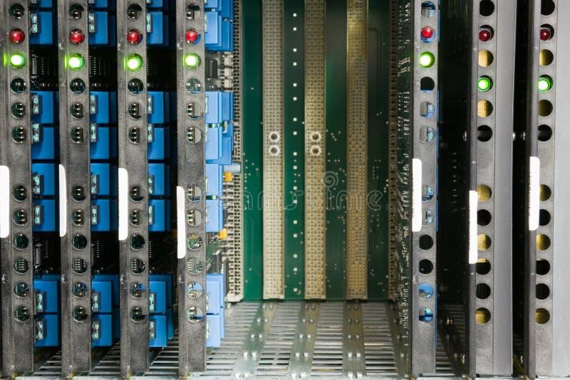 Système de central téléphonique images stock