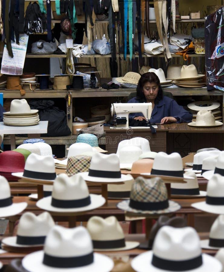 Système de chapeaux de Panama - Cuenca - Equateur photos libres de droits