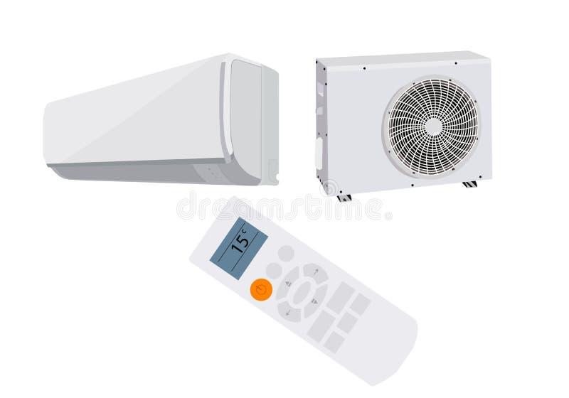 Système de climatiseur sur le fond blanc Illustration de vecteur illustration stock