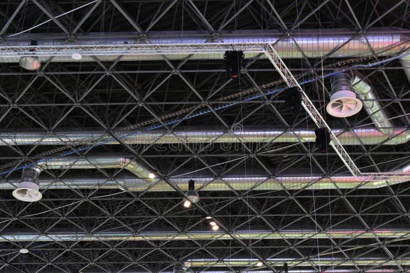 Système de conditions d'air industriel photo libre de droits