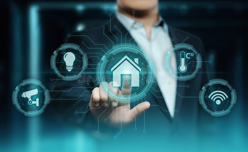 Système de contrôle intelligent de domotique Concept de réseau Internet de technologie d'innovation photo libre de droits