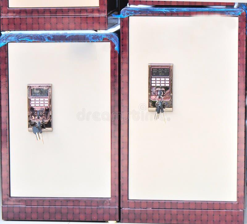 Système de deux compartiments de coffre-fort photographie stock