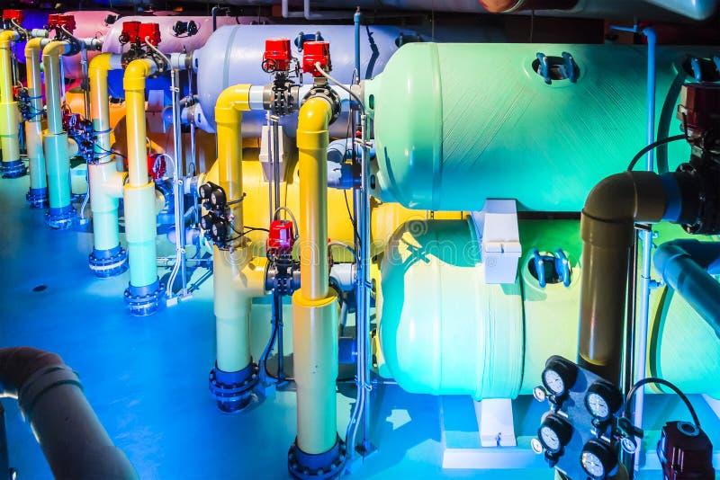 Système de filtration d'aquarium image libre de droits