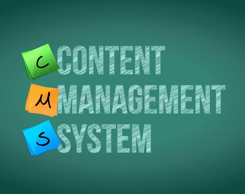 Système de gestion de contenu illustration de vecteur