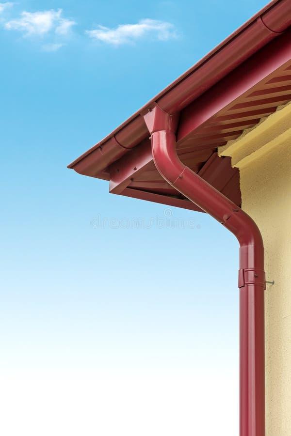 Système de gouttière de pluie photos stock