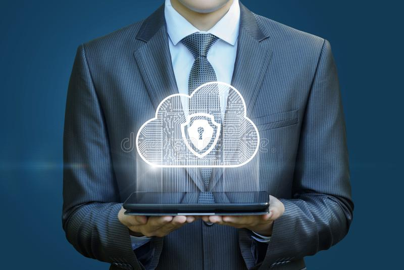 Système de la sécurité des données de nuage photographie stock libre de droits