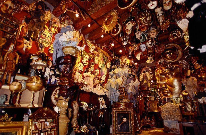 Système de masques de Venise photographie stock libre de droits