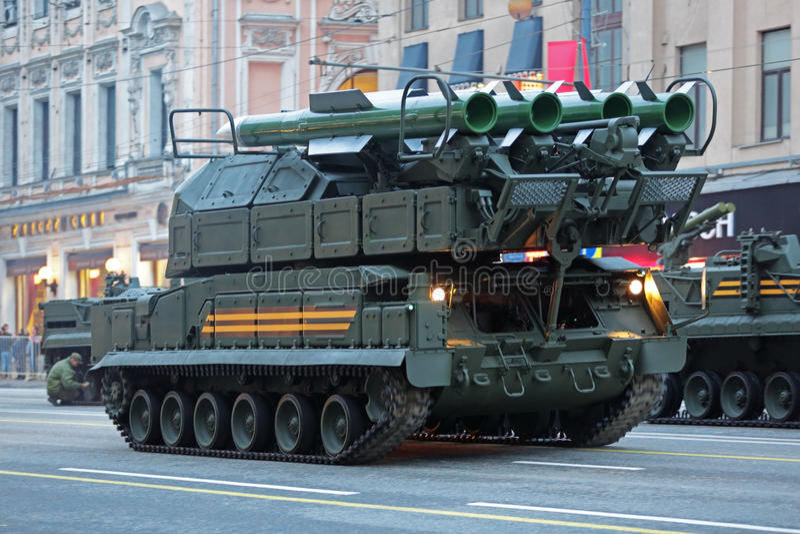 Système de missiles de Buk photo stock