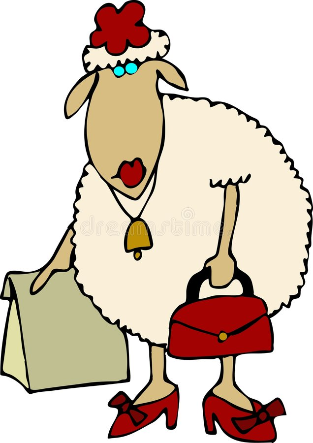 Système de moutons illustration libre de droits