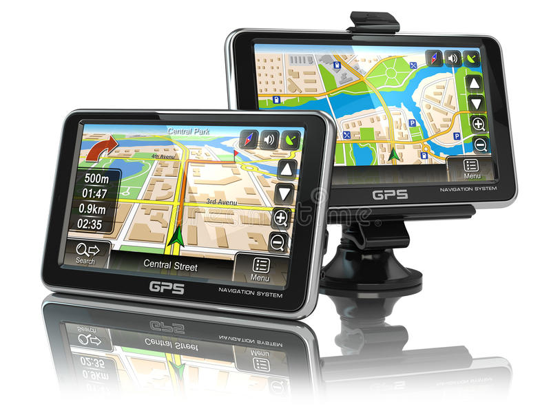 Système de navigation de GPS illustration stock