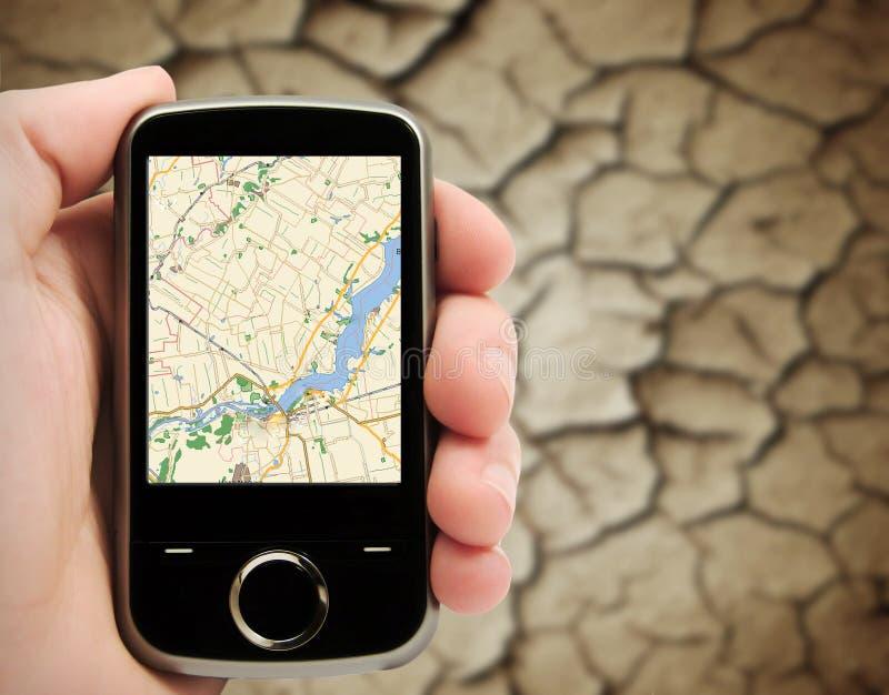 Système de navigation satellite photographie stock libre de droits