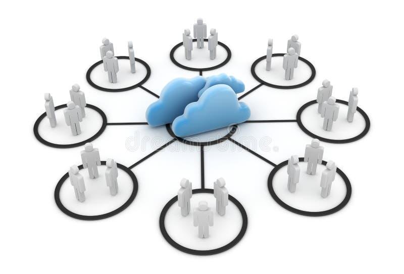 Système de nuage d'ordinateur illustration libre de droits