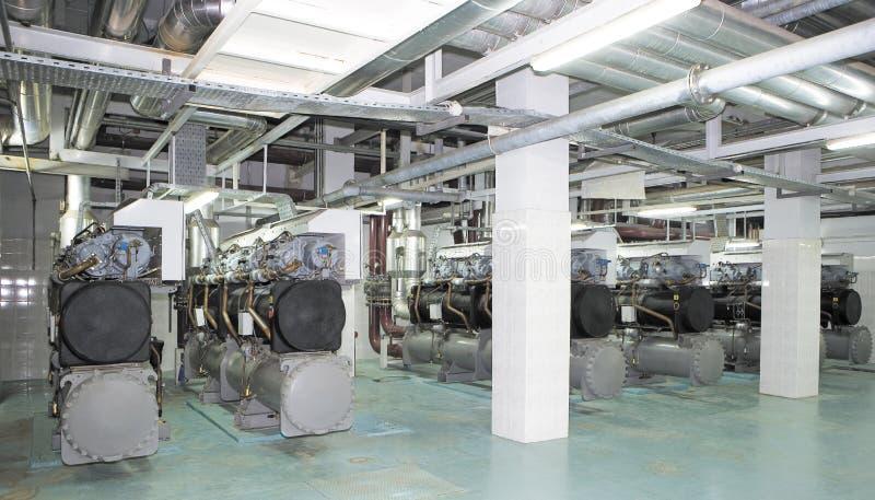 Système de production d'électricité pour le centre commercial, l'usine et les sites vivants photos stock