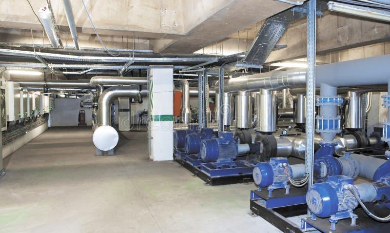 Système de production d'électricité pour le centre commercial, l'usine et les sites vivants photo stock