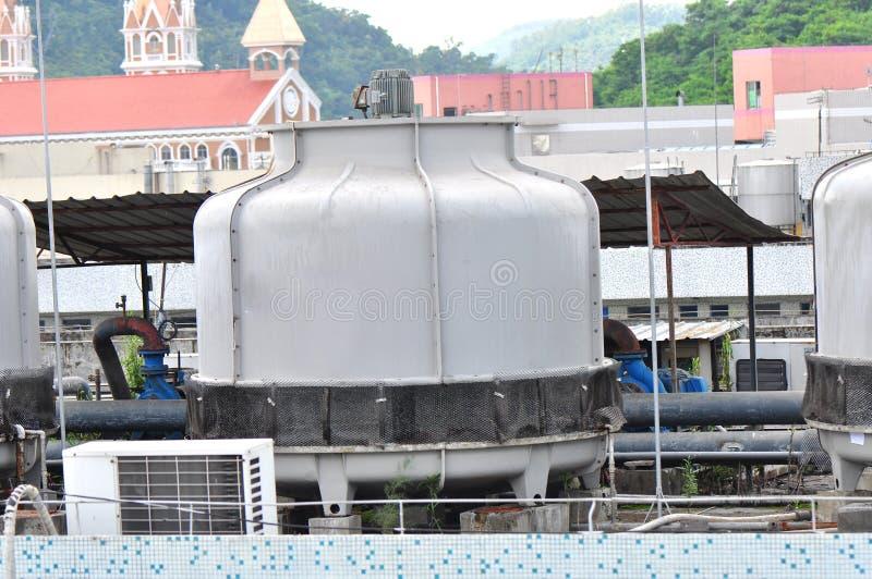système de refroidissement central industriel photographie stock libre de droits