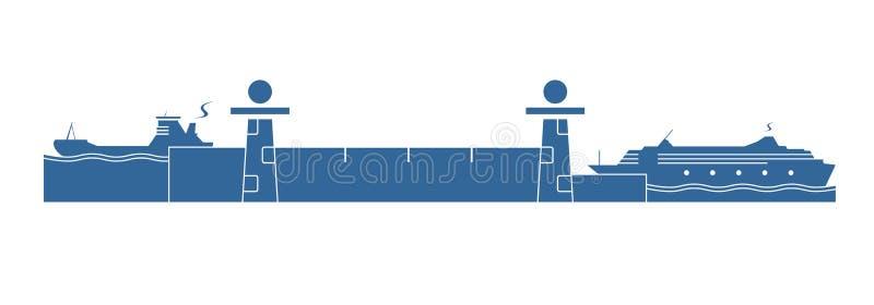 Système de serrure de l'eau illustration stock