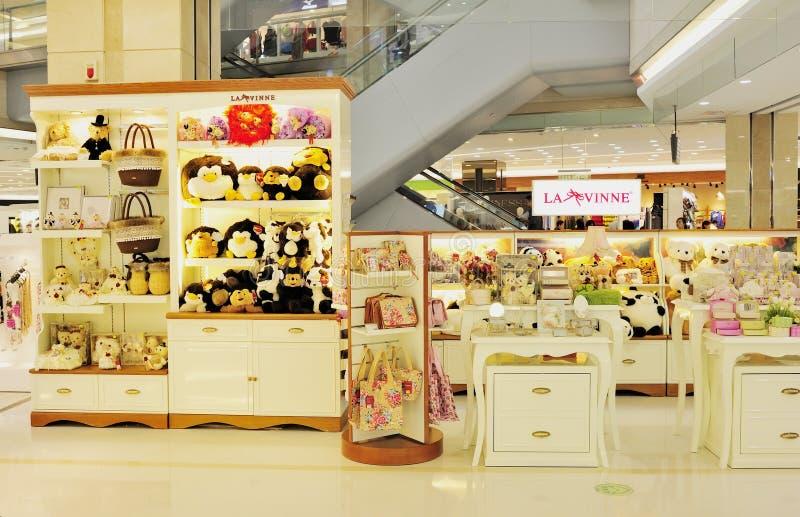 Système des jouets et des accessoires de la fille photos stock