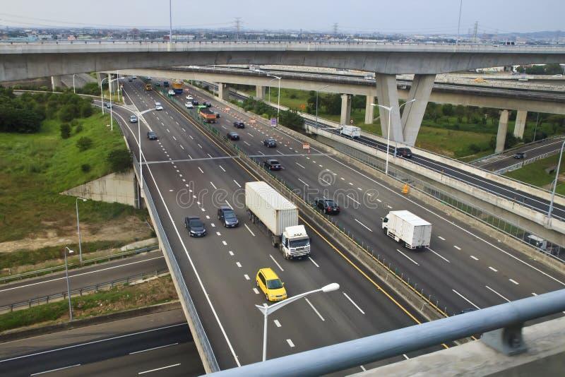 Système et voitures de l'autoroute de Taïwan photos stock