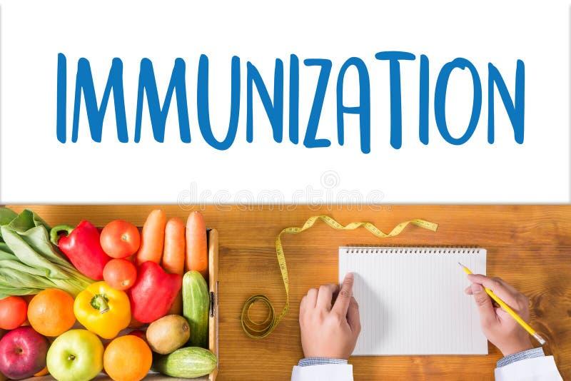 Système immunitaire d'IMMUNISATION en tant que concept médical, seringue Immun photos libres de droits