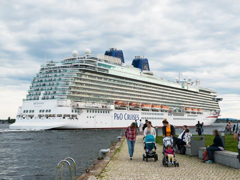 Système mv Britannia à Oslo, Norvège images libres de droits