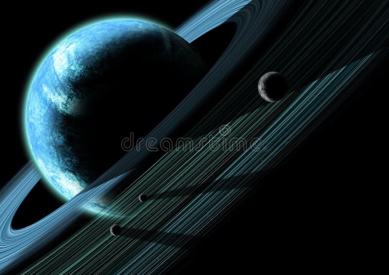Système planétaire de boucle illustration libre de droits