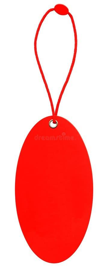 système rouge de lacet d'étiquette de glam image stock