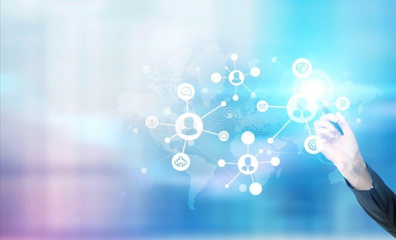 Système social global de mise en réseau illustration de vecteur