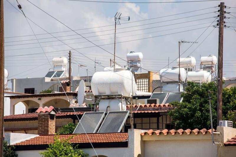 Système solaire du chauffage d'eau SWH photographie stock libre de droits