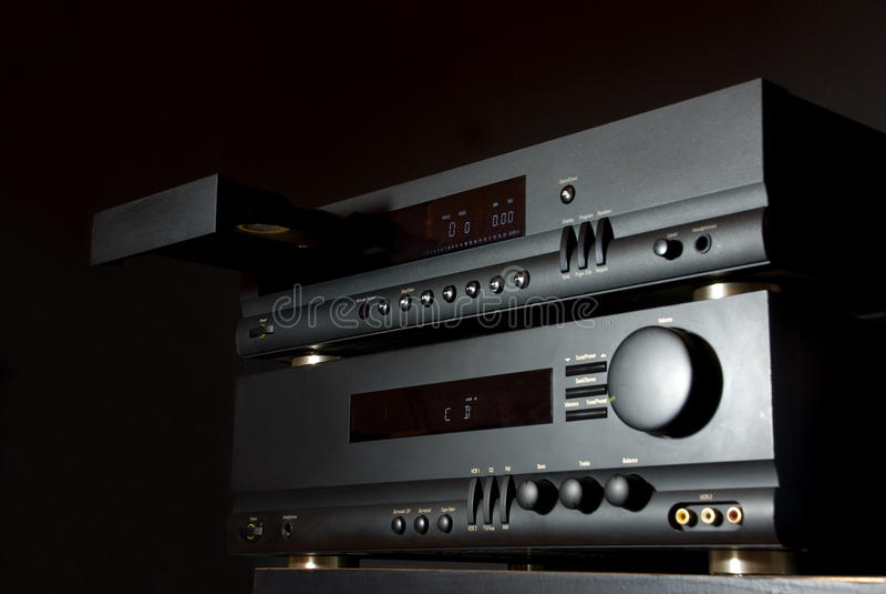 Système sonore de haute fidélité photos stock