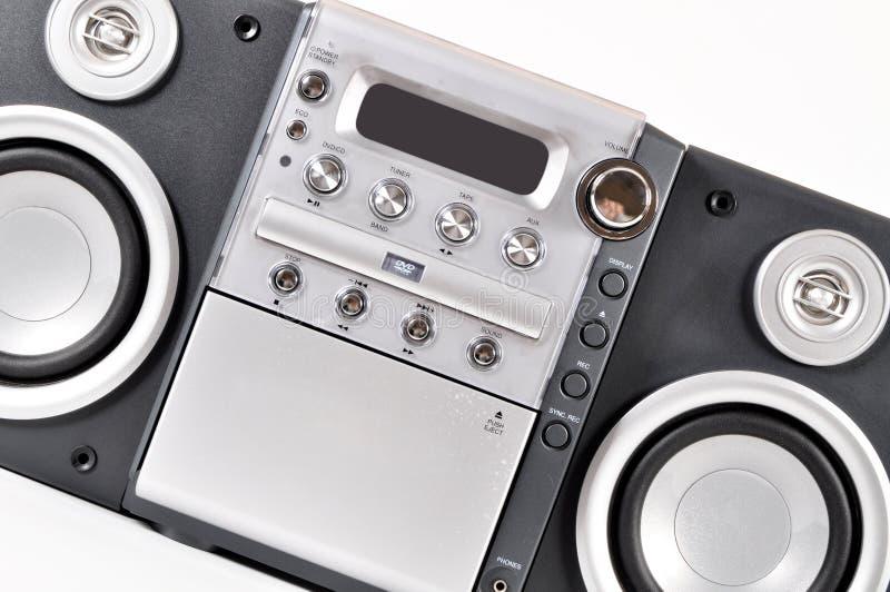 Système stéréo compact images stock
